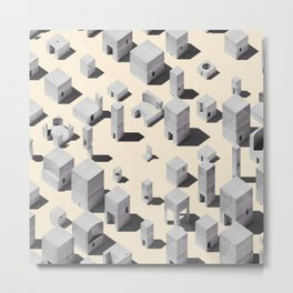 Architecture Blocks Metal Print