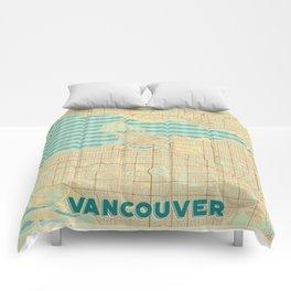 Vancouver Map Retro Comforters