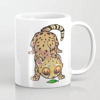 cheetah Mugs featuring Cheetah by Suzanne Annaars