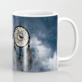 Black Bird Crow Tree Dream Catcher Night Moon A082 Coffee Mug