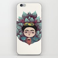 frida iPhone & iPod Skins featuring frida by yohan sacre