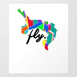Fly Parkour Art Print