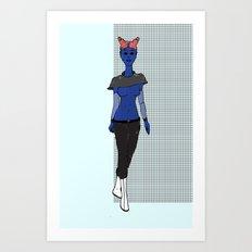 Galactic Street Queen; Martian Babe Art Print