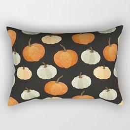 Orange yellow gray black watercolor pumpkin pattern Rectangular Pillow