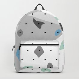 Abstract geometric climbing gym boulders blue mint Backpack
