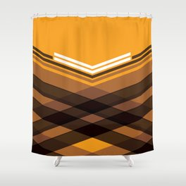 Brown Stripes Shower Curtain