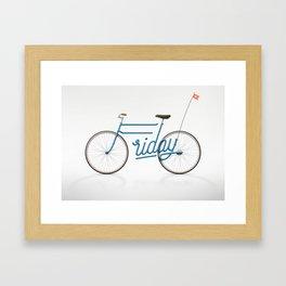 Lovely Friday Framed Art Print