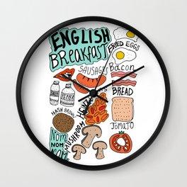 English Breakfast Wall Clock