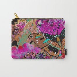 Neon Butterflies Carry-All Pouch
