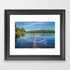 Smoke Lake Framed Art Print