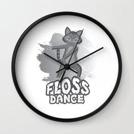 Floss Dance Move Cat Wall Clock