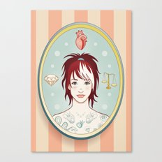 Truth, Love, Beauty Canvas Print
