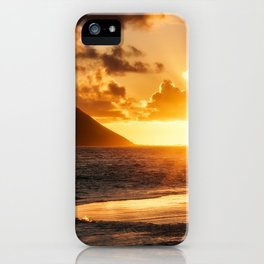 Sunrise Ocean view at Lanikai Beach Hawaii iPhone Case