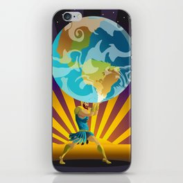 atlas holding the world iPhone Skin