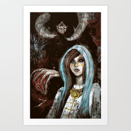 A Cautionary Tale for Young Deities Art Print