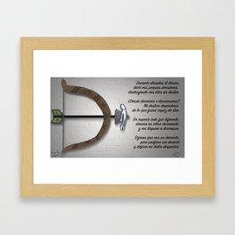 D de Destino Framed Art Print