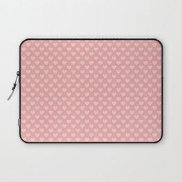 Large Light Pink Love Hearts on Blush Pink Laptop Sleeve