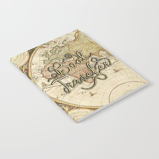 Book Traveler Vintage Map v2 Notebook