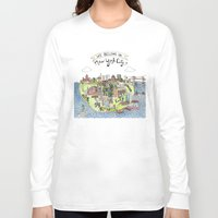 new york city Long Sleeve T-shirts featuring New York City Love by Brooke Weeber