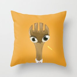 Wooden Forky Throw Pillow