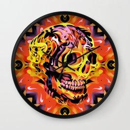 Skull V Wall Clock