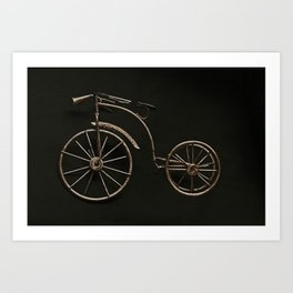 old fashioned bicycle. Art Print