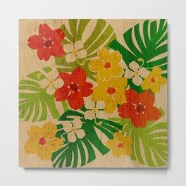Limahuli Garden Hawaiian Floral Design Metal Print