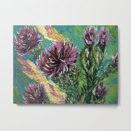 """Thumbnail of the painting """"Thistle"""" Metal Print"""