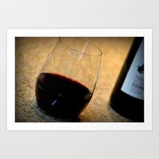 Glass of wine. Art Print