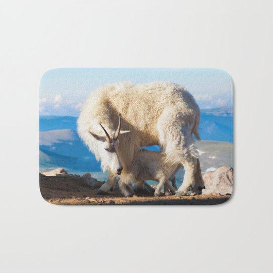 Mountain Goats Nanny And Kid Bath Mat