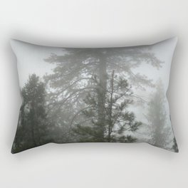 Fog in the Forest Rectangular Pillow