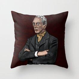 Portrait of an Illustrator - Rockwell Throw Pillow