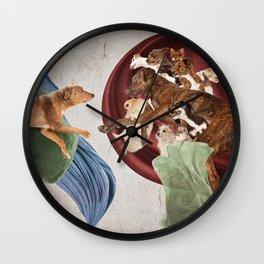 When God Created Dog Wall Clock