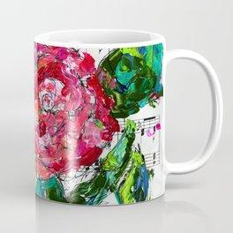Melody - Floral - Piano notes Coffee Mug