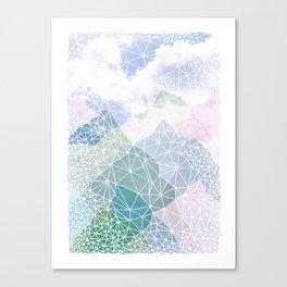 Multicolour Magic Mountains Canvas Print
