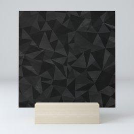 Dirty Dark Geo Mini Art Print