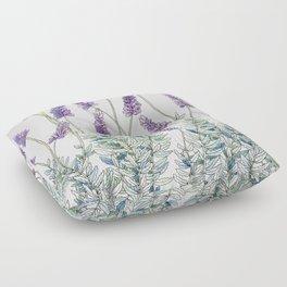Lavender, Illustration Floor Pillow