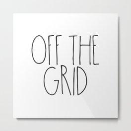 Off the Grid Metal Print