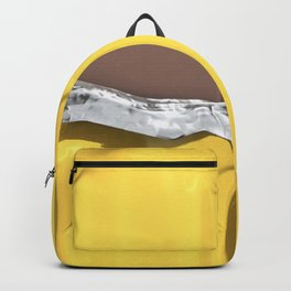 Chocolate candy bar in gold wrapper Backpack