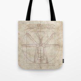 Da Vinci's Real Screw Invention Tote Bag