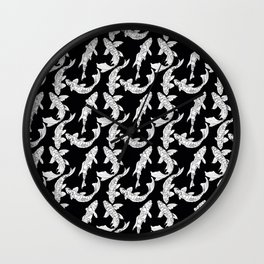 Beautiful Pattern #12 Koi fishes 2 Wall Clock