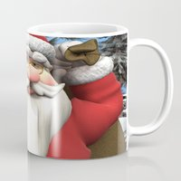 santa Mugs featuring Santa by Design Windmill