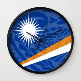Marshall Islands Flag Island Style Wall Clock