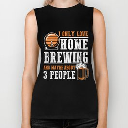 For Craft Beer Lovers who Brew Their Beer at Home Dark Biker Tank