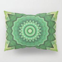 Mandala Green Life Pillow Sham