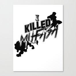I Killed Mufasa - A SSBM Falcon Design Canvas Print