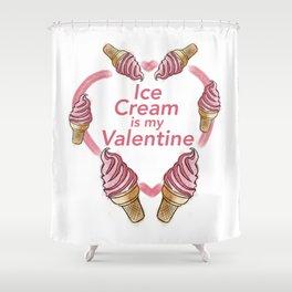 Ice Cream Valentine Shower Curtain