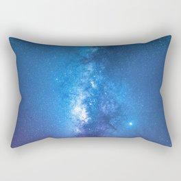 Milky Way Galaxy Over Open Ocean Rectangular Pillow
