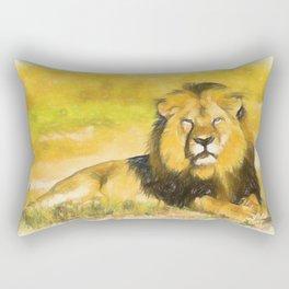Magnificent Lion Rectangular Pillow