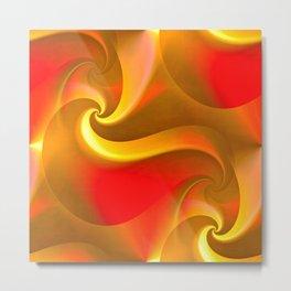 Whirly Curly (orange) Metal Print